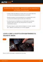 Cómo cambiar Filtro de aire acondicionado AUDI A6 (4F2, C6) - manual en línea