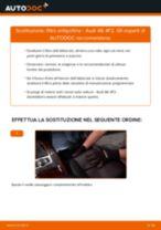 Come cambiare è regolare Filtro abitacolo AUDI A6: pdf tutorial