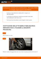 Come cambiare è regolare Tiranti barra stabilizzatrice MERCEDES-BENZ C-CLASS: pdf tutorial