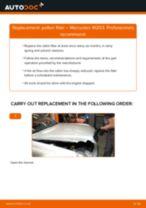 DIY manual on replacing MERCEDES-BENZ C-Class Pollen Filter