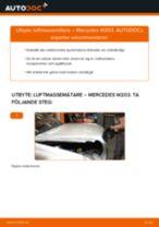 Byta luftmassemätare på Mercedes W203 – utbytesguide