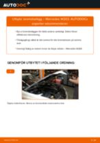 Byta bromsbelägg fram på Mercedes W203 – utbytesguide