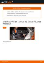 Byta luftfilter på Audi A6 4F2 – utbytesguide