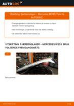 Mekanikerens anbefalinger om bytte av MERCEDES-BENZ Mercedes W203 C 180 1.8 Kompressor (203.046) Hjullager