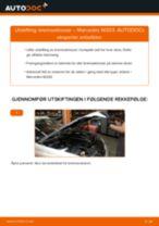 Slik bytter du bremseklosser fremme på en Mercedes W203 – veiledning