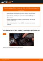 Hvordan bytte og justere Kupefilter AUDI A6: pdf håndbøker