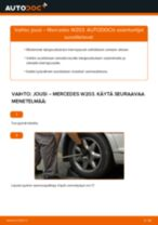 Kuinka vaihtaa jousi taakse Mercedes W203-autoon – vaihto-ohje