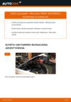 Kuinka vaihtaa jarrupalat eteen Mercedes W203-autoon – vaihto-ohje