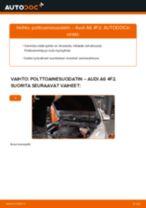 Kuinka vaihtaa polttoainesuodatin Audi A6 4F2-autoon – vaihto-ohje