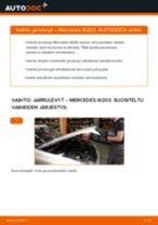 Kuinka vaihtaa jarrulevyt eteen Mercedes W203-autoon – vaihto-ohje