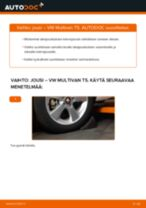 Kuinka vaihtaa jousi taakse VW Multivan T5-autoon – vaihto-ohje