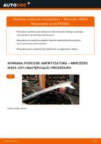 Jak wymienić poduszka amortyzatora przód w Mercedes W203 - poradnik naprawy