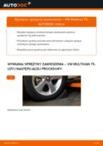 Jak wymienić Sprężyna zawieszenia przód lewy prawy VW MULTIVAN V (7HM, 7HN, 7HF, 7EF, 7EM, 7EN) - instrukcje online