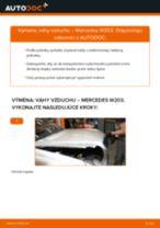 Ako vymeniť váhu vzduchu na Mercedes W203 – návod na výmenu