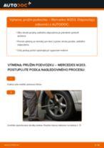 Ako vymeniť zadné pružina podvozku na Mercedes W203 – návod na výmenu