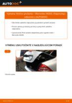 Ako vymeniť zadné tlmiče pruženia na Mercedes W203 – návod na výmenu