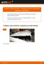 Ako vymeniť vzduchový filtr na Mercedes W203 – návod na výmenu