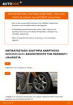 Πώς να αλλάξετε ελατήρια ανάρτησης πίσω σε Mercedes W203 - Οδηγίες αντικατάστασης