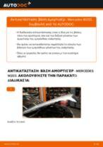 Πώς να αλλάξετε βάση αμορτισέρ εμπρός σε Mercedes W203 - Οδηγίες αντικατάστασης