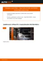 PDF priročnik za zamenjavo: Zracni filter OPEL ZAFIRA B (A05)