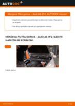 Kako zamenjati avtodel filter goriva na avtu Audi A6 4F2 – vodnik menjave