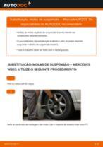 Como mudar molas de suspensão da parte traseira em Mercedes W203 - guia de substituição