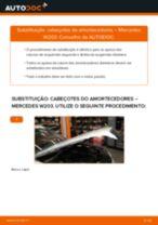 Como mudar cabeçotes do amortecedores da parte dianteira em Mercedes W203 - guia de substituição
