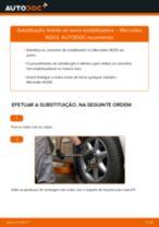 Aprenda a corrigir o problema do Tirante da Barra Estabilizadora traseiro e dianteiro MERCEDES-BENZ