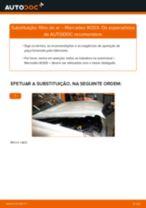 Como mudar filtro de ar em Mercedes W203 - guia de substituição