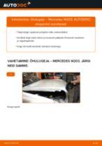 Automehaaniku soovitused, selleks et vahetada välja MERCEDES-BENZ Mercedes W203 C 180 1.8 Kompressor (203.046) Rattalaager