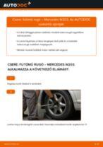 Lépésről lépésre kezelési útmutató Mazda 323 P BA