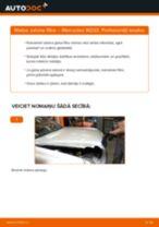Nomaiņai Gaisa filtrs MERCEDES-BENZ Mercedes W202 C 250 2.5 Turbo Diesel (202.128) - remonta instrukcijas