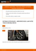 Automechanikų rekomendacijos MERCEDES-BENZ Mercedes W203 C 180 1.8 Kompressor (203.046) Amortizatorius keitimui