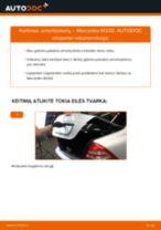 Kaip pakeisti Mercedes W203 amortizatorių: galas - keitimo instrukcija