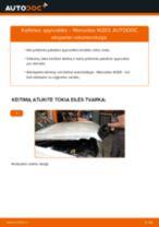 Kaip pakeisti Mercedes W203 spyruoklės: priekis - keitimo instrukcija