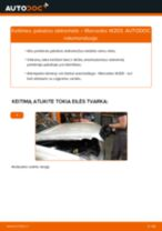 Kaip pakeisti Mercedes W203 pakabos statramstis: priekis - keitimo instrukcija