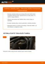 Kaip pakeisti Mercedes W203 stabdžių diskų: galas - keitimo instrukcija