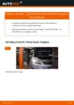 Kaip pakeisti Opel Zafira B A05 oro filtro - keitimo instrukcija