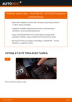 Kaip pakeisti ir sureguliuoti Rato stebulė AUDI A6: pdf pamokomis