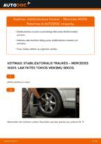 Kaip pakeisti Mercedes W203 stabilizatoriaus traukės: galas - keitimo instrukcija