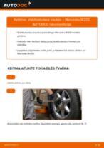 Kaip pakeisti Mercedes W203 stabilizatoriaus traukės: priekis - keitimo instrukcija