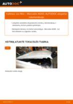 Kaip pakeisti Mercedes W203 oro filtro - keitimo instrukcija