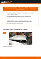 Kaip pakeisti Mercedes W203 salono filtro - keitimo instrukcija