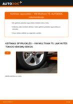 Kaip pakeisti VW Multivan T5 spyruoklės: galas - keitimo instrukcija