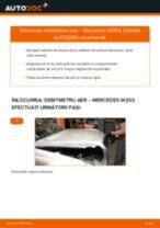 Cum să schimbați: debitmetru aer la Mercedes W203   Ghid de înlocuire