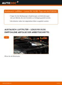 Wie der Wechsel durchführt wird: Luftfilter 3.3 400h AWD Lexus RX XU30 tauschen