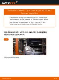 Wie der Wechsel durchführt wird: Luftfilter 1.9 CDTI (M75) Opel Zafira B tauschen