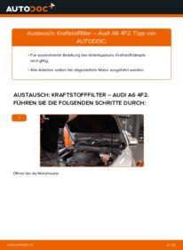 Wie der Wechsel durchführt wird: Kraftstofffilter 3.0 TDI quattro Audi A6 C6 tauschen