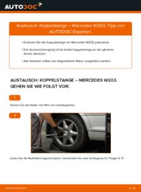 Wie der Wechsel durchführt wird: Koppelstange C 220 CDI 2.2 (203.006) Mercedes W203 tauschen