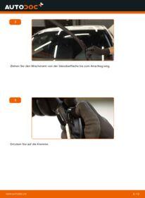 Wie der Wechsel durchführt wird: Scheibenwischer C 220 CDI 2.2 (203.006) Mercedes W203 tauschen